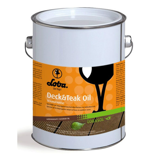Масло для наружных работ Lobasol Deck&Teak Oil прозрачное