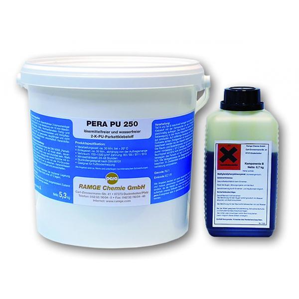 2k паркетный полиуретановый клей Pera PU 250-R, 6 кг фото